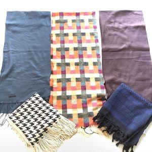 5 Piece Lot Ladies Scarves Wraps Mixed Brands